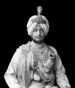 Bhupendra Singh, Maharajah of Patiala, wearing the necklace.