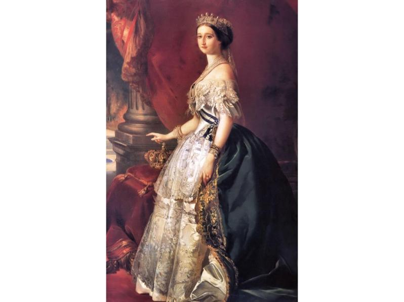 Empress Eugenie by Franz Xaver Winterhalter, 1853.