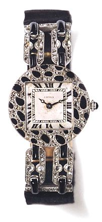 Cartier first watch with the Panther motif. 1914.