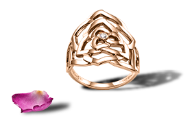 Piaget Rose ring in 18K rose gold set with a brilliant-cut diamond (approx. 0.04 ct).