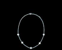 Fleurette necklace, white gold and diamonds.