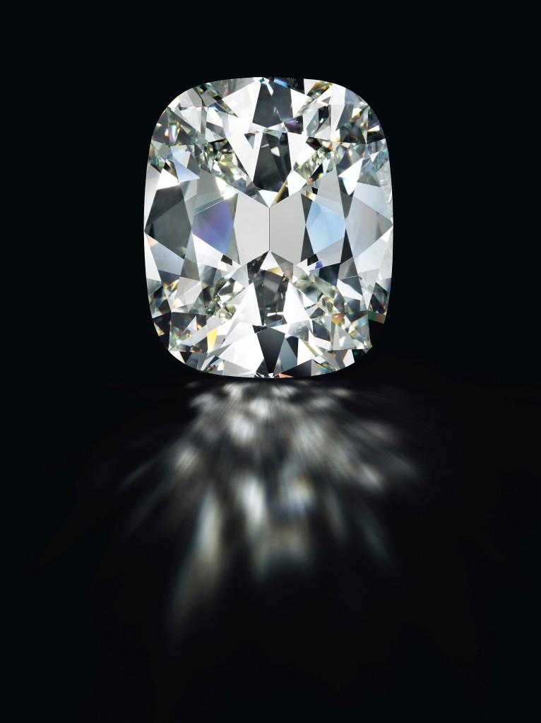 A cushion-shaped diamond of 80.73 carats. Estimate $4,000,000 - 5,000,000.