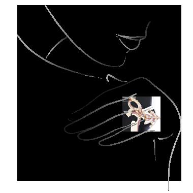 Cerfs-Volants 1 motif Between the Finger RIng.