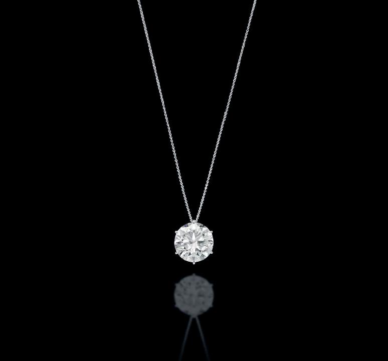 Brilliant-cut F colour IF Diamond Pendant.