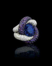 A sapphire, amethyst and diamond ring, by JAR
