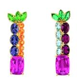 Granville Tourmaline Rose Earrings