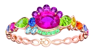 Granville Tourmaline Rose Bracelet