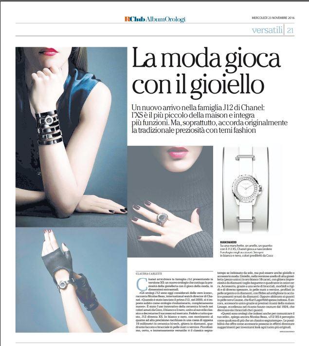 Claudia Carletti Chanel J12-XS La Repubblica