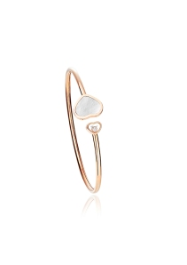 Chopard Happy Hearts bangle mother-of-pearl