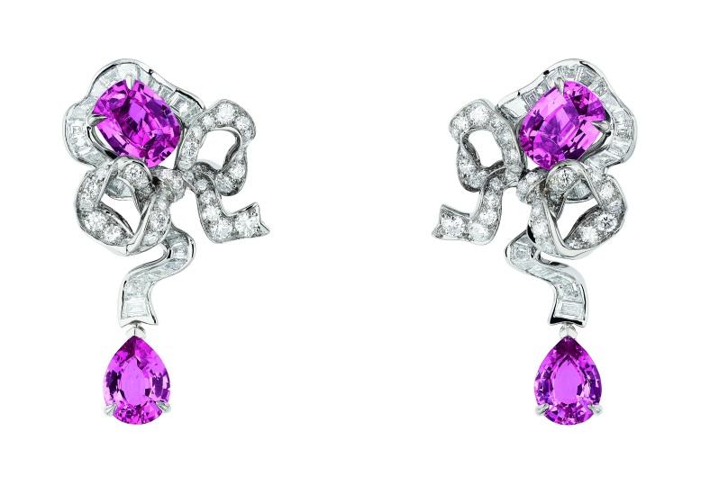 fontange saphir rose earrings