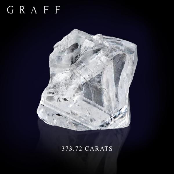 Graff 373.72 Carat rough diamond