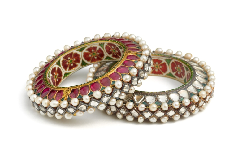 Pair of bangles, probably Jaipur or Bikaner